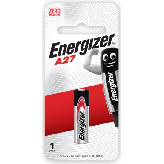 ENERGIZER 12V ALKALINE BATTERY 1 PACK:  A27 (MOQ12)