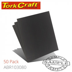 WATER PAPER 230 X 280MM 80 GRIT WET & DRY 50 PER PACK STD
