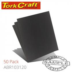 WATER PAPER 230 X 280MM 120 GRIT WET & DRY 50 PER PACK STD