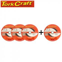 3+1 FREE CUTTING DISC INDUSTRIAL METAL 230 X 1.8 X 22.2 MM