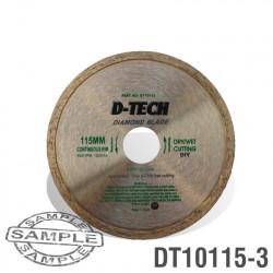 DIAMOND BLADE CONTINUOUS RIM 115 X 22.23MM TILES