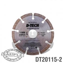 DIAMOND BLADE SEGMENTED MID. 115 X 22.23MM