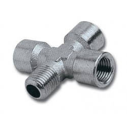 4-WAY CONNECTOR 1/4'3F/1M PACKAGED