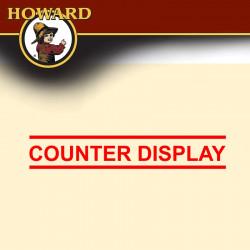 HOWARD COUNTER DIPSLAY-SILVER.COPPER.BRASS POLISH (12 X CB0008.SP0008)
