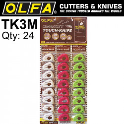 MAGNETIC TOUCH KNIFE IN COOKIE JAR (24PC) WHITE/GREEN/PINK