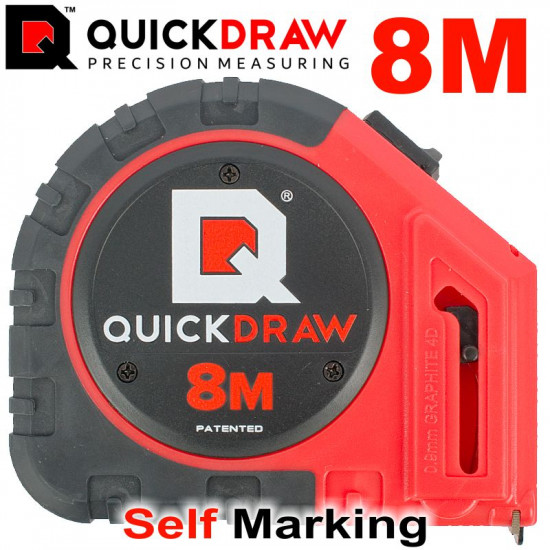 QUICKDRAW 8M TAPE MEASURE SELF MARKING