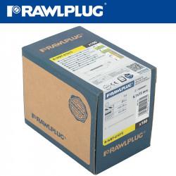 ROOFING ISULATION SCREW 61MMX75MM TX25 HEAD BOX-100