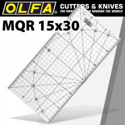METRIC QUILT RULER 15CM X 30CM - METRIC GRID