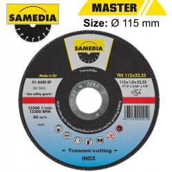 ABR CUTTING DISC 115 X 1.0 X 22.3MM OSA S/STEEL & METAL SAMEDIA
