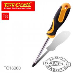SCREWDRIVER TORX TAMPER PROOF T8 4X75MM