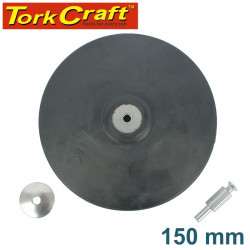 BACKING PAD RUBBER 150MM W/ARBOR